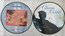 """CHINA CRISIS - 2 x Picture Disc Singles 7""""  → Tragedy & Mystery  & → CHRISTIAN"""