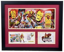 Iron Man First Day of Issue Litho Plaque Marvel Super Heroes RARE!