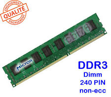 Mémoire DDR3 1GB/GO MICRON PC10600U-1333Mhz CL9 MT8JTF12864AZ-1G4F1 240PIN 1Rx8