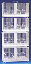 LARGE CAMBO 4 of Bird Finch Canary Breeding Breeder Cages WRolling Stand NEW-375