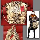 $4,995 VALENTINO GARAVANI Ladies PYTHON ROCKSTUD BAG w/ Price Tag