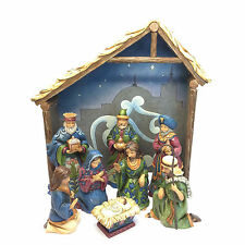 Jim Shore New 2015 Nativity MIRACLE IN THE MANGER 8 Piece Nativity Set 4047770