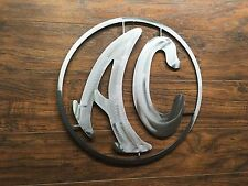 AC Logo Sign  Metal Wall Art Decor Man Cave Performance Car Cobra Shelby
