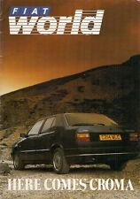 Fiat World Magazine No 8 June 1986 UK Market Brochure Panda Uno Regata Croma