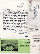 1975 JOHN BARTOK ALS Autograph SIGNED Artist MAINE Ogunquit MARINE Maritime ART