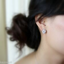 Cosmo Diamonte Sterling Silver Stud Earrings (as featured in BRIDE magazine)
