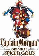 "Captain Morgan Rum Bar Alcohol  Bumper sticker, wall , vinyl, bumper 5""x 3.5"""