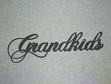 Grandkids wood wall word art decor Grand kids