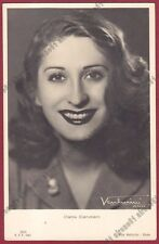 CARLA CANDIANI 01 ATTRICE ACTRESS CINEMA MOVIE - LEGNANO Cartolina FOTOGRAF 1942