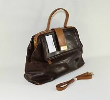 NEW Brown Leather PURSE Clutch Hand Bag Shoulder Bag Medium Women's Bag