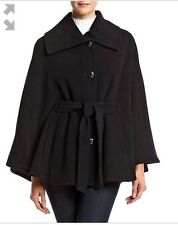 Calvin Klein Collection Women's Black Virgin Wool Blend Coat Size S-M NWT 220$