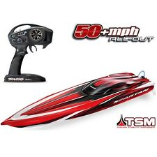 Traxxas 57076-4 Spartan Brushless RTR RC Boat RED w/TSM & TQi - FREE SHIPPING