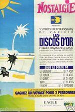 Publicité advertising 1988 Radio Nostalgie ......Les Discos d'or