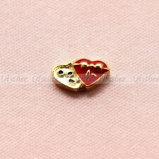 Floating Charm Heart Gifts Box Free Shipping for Glass Living Memory Lockets 1pc