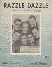 Razzle Dazzle - Bill Haley and his Comets - 1955 Sheet Music