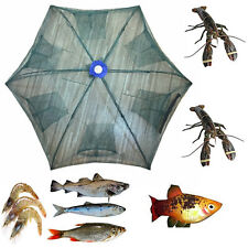 Lightweight Folded Fishing Net Fish Shrimp Minnow Crab Baits Cast Mesh Trap New