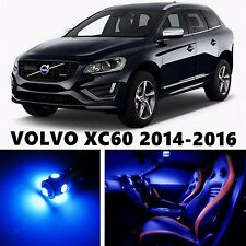 10pcs LED Blue Light Interior Package Kit for VOLVO XC60 2014-2016