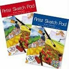 2 x Pads of A3 Sketch Book 30 Sheets Artist Pad 80gsm White Paper