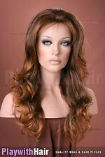 Lush Lengths Designer Wig Brown Blonde Tip