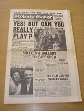 MELODY MAKER 1958 NOVEMBER 22 WEST SIDE STORY SHIRLEY BASSEY HEATH JAMBOREE +
