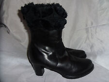BRUNO MAGLI WOMEN'S BLACK LEATHER ANKLE ZIP UP BOOT SIZE UK 5.6 EU 38.5 VGC