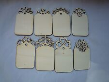 8 Decorative Large Unfinished Wood Hang Tags