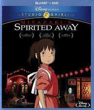 Miyazaki's Spirited Away Studio Ghibli BLU RAY & DVD, 2015, 2-Disc Set
