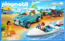 Playmobil 6864 Urlauber Surfer-Pickup Anhänger Speedboat Unterwassermotor NEU