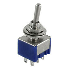 5pcs 3 Position 2P2T DPDT ON-OFF-ON Miniature Mini Toggle Switch SY AU