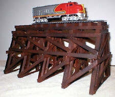 WOODEN TRESTLE FOR MODEL RAILROAD TRAIN LAYOUT HO SCALE