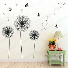 Huge Dandelion Flower Butterfly Wall Stickers Art Decal Mural Paper Vinyl Decor