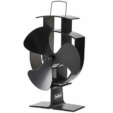 VonHaus Wood Stove Eco Fan - Heat Powered Ultra Quiet Triple Blade Fireplace Fan