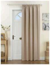 Door Curtain Panel - Thermal, Thick & Heavy Natural Beige. Lined 66 x 84 Inches