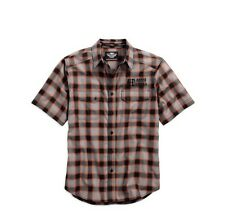 Harley Davidson mens cotton oxford plaid shirt 96415-17vm new. free post large