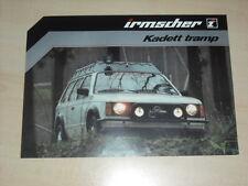 61480) Opel Kadett D Irmscher tramp Prospekt 198?
