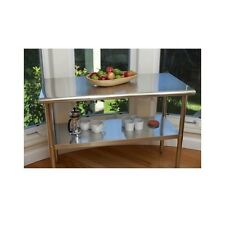Stainless Steel Table Kitchen Island Counter Top Prep Station Work Surface Shelf