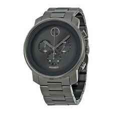 Movado Bold Grey Sunray Dial Stainless Steel Band and Case Mens Quartz Watch