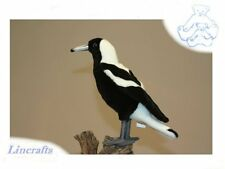 Lg. Magpie. Plush Soft Toy bird by Hansa. 5053. 26cm