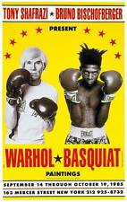Andy Warhol and Jean Michel Basquiat Boxing Collaborations Exhibition Art Poster