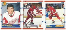 13 1990-91 SCORE HOCKEY DETROIT RED WINGS CARDS (PRIMEAU RC/YZERMAN+++)