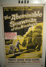 The Abominable Snowman of the Himalayas Original 1sh Movie Poster '57 Cushing,