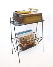 VTG Metal wire Stereo Record Player Turntable Album Stand Mid Century Modern lp