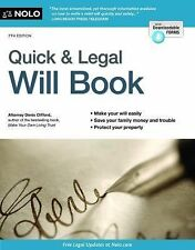 Quick & Legal Will Book-ExLibrary