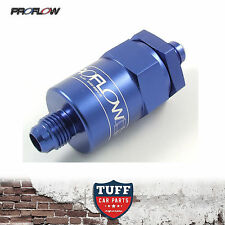 PROFLOW PFE COMPETITION BILLET REUSABLE FUEL FILTER 30 MICRON BLUE -8AN -8 AN