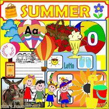 SUMMER topic Primary teaching resources EYFS KS1 SEN Resource  SEASONS THEME cd