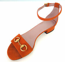 GUCCI Shoes Flats in size 37/7 real leather rust orange 699$, Made in Italy