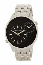 $180 Auth Armani Exchange Men's AX2160 'Smart' Dual Time Stainless steel Watch