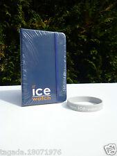 �� Bloc Note Neuf Ice Watch Couleur Bleu Marine Vendu  Avec Un Bracelet Gris