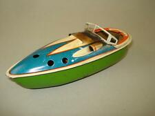 RARE OLD  SPEEDBOAT TIN TOY STEAM POP BUTT BOAT US.ZONE GERMANY