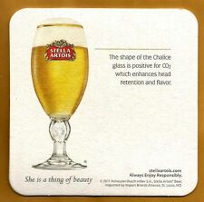 15 Stella Artois  Shape Of The Chalice  Beer Coasters She Is A Thing Of Beauty